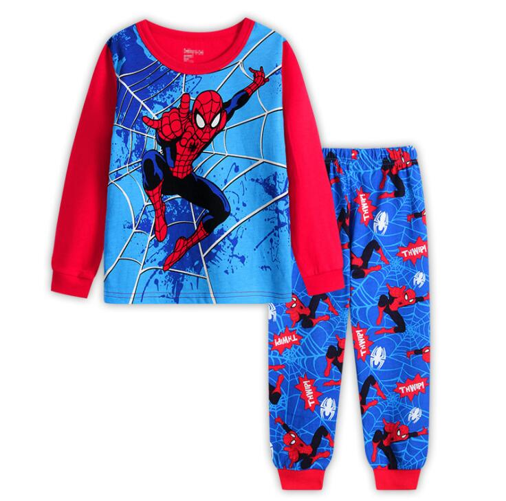 New 2Pcs Kids Pajamas Sets Boys And Girls Clothes Cartoon Long Sleeve T-shirt+Pants SM928