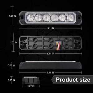 Image 5 - Bogrand 車 Led ストロボフラッシュ警告灯 12 v 赤点滅強力なミニ Led 緊急車両のライト同期化された