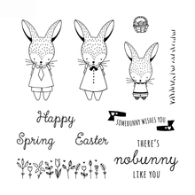 Rabbit Transparent Clear Silicone Stamp/Seal for DIY scrapbooking/photo album Decorative clear stamp