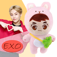 2019 New SGDOLL Kpop EXO XIUMIN Plush Dolls Cute Animal Character Plush Toy Stuffed Doll Fans Gift Collection Doll With Bag 22cm