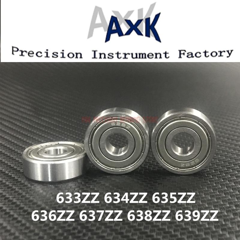 2019 Rolamentos Free Shipping Axk Abec- 3 10 Pcs 633zz 634zz 635zz 636zz 637zz 638zz 639zz Miniature Deep Groove Ball Bearings
