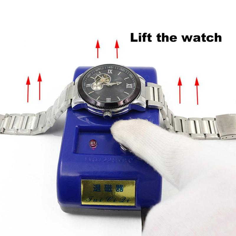 EU Plug Watch Demagnetizer Watch Tool Watch Repair Screwdriver Tweezers Electrical Demagnetize Tool Horloge Gereedschap