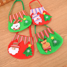 10 Pcs/Lot Cartoon Style Santa Claus Elk Snowman Bear Xmas Christmas Gift Bags Candy Bag Decorations for Children Kids