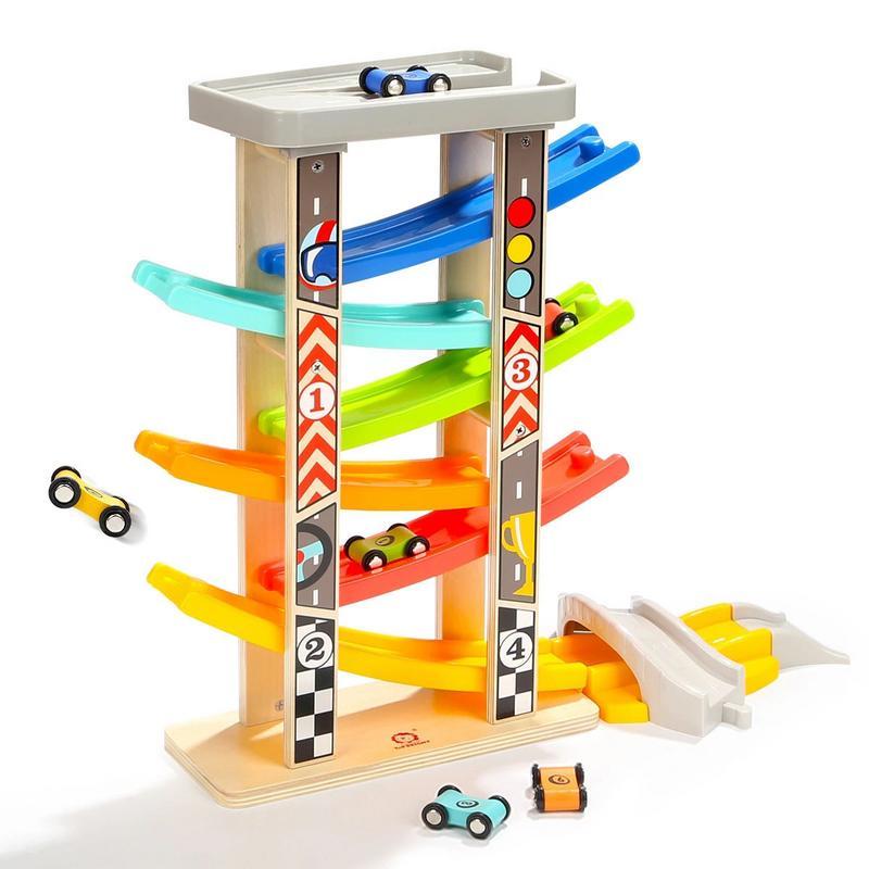 Six-Track glisse piste voiture éducation précoce jouet éducatif voiture Puzzle assemblée pour les jeunes enfants bébés garçons filles