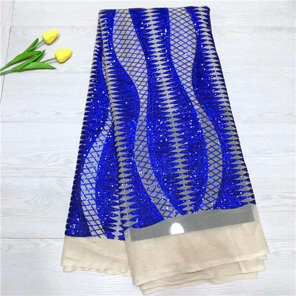 2019 africana de encaje francés de alta calidad de tela de encaje bordado de Color azul tela africana de encaje para boda de Nigeria vestido-in encaje from Hogar y Mascotas    1