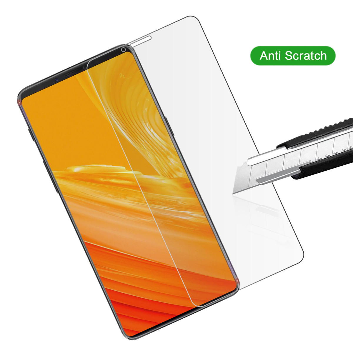 2 Pack Tempered Glass For OnePlus 6T Phone Screen Protector Anti-Scratch Screen Cover for OnePlus 6T Tempered Glass
