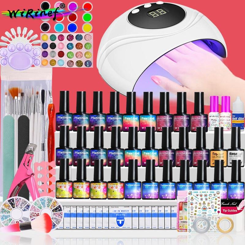 polones conjunto kit embeber vernizes gel manicure 05