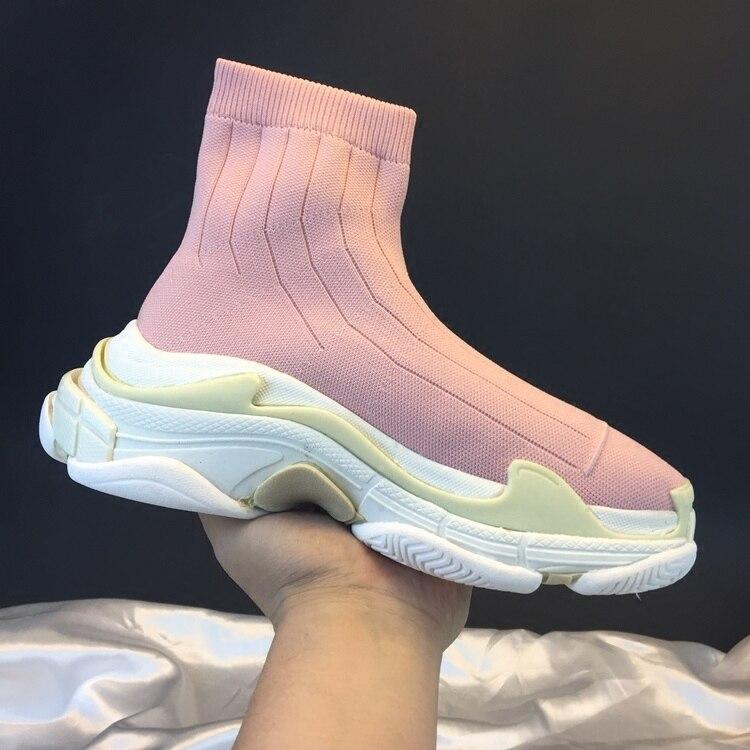 Nuevo 2018 Otoño Mujer Calcetín Plataforma Tejer Estilo Señoras Fresco As Moda Altas Show Botas Slim Zapatillas De Tobillo Show as Invierno Roma Las Deporte HxqwUAp