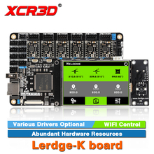 XCR3D Printer Part Lerdge-K board A4988 DRV8825 LV8729 TMC2208 Drivers Optional ARM 32Bit Controller Touch Screen Motherboard недорого