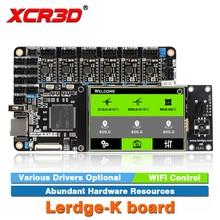 XCR3D Printer Part Lerdge-K board A4988 DRV8825 LV8729 TMC2208 Drivers Optional ARM 32Bit Controller Touch Screen Motherboard цена в Москве и Питере