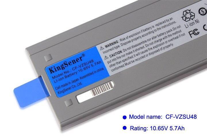 KingSener celular japonés nuevo CF-VZSU48 batería para Panasonic CF-VZSU48 CF-VZSU48U CF-VZSU28 CF-VZSU50 CF-19 CF19 Toughbook - 5