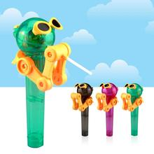 Newest Creative Personality Toys Lollipop Holder Decompression Robot Candy Dustproof Toy Gift