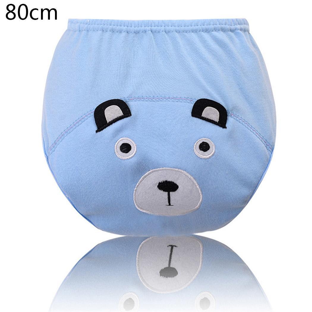 Children Cartoon Three-Layer Waterproof Training Pants Diaper Pants Elastic Waist Unisex Embroidery