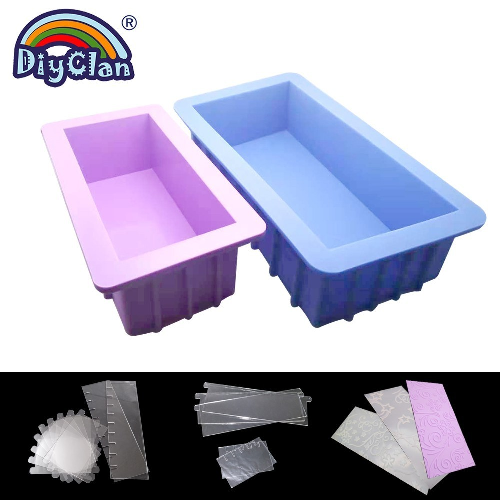 1100 2200 Rectangle Silicone Loaf Soap Mold Big Size Handmade Soap Making Form With Dividers And Mats Diy Tools Supplies