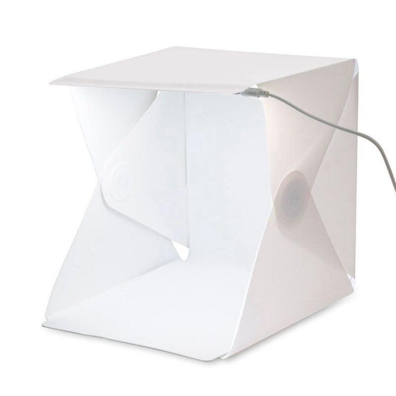 Folding Photography Studio Box Light Box Softbox LED Light Box For IPhone Samsung HTC Smartphone Digital DSLR Camera
