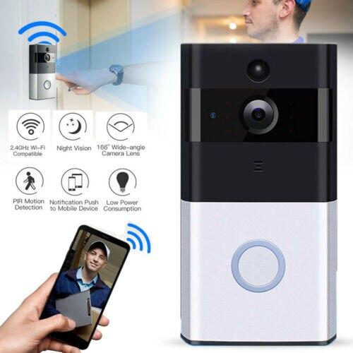 WLAN WiFi Türklingel Türsprechanlage Funk Video Ring Tür Klingel 720P Mit Kamera