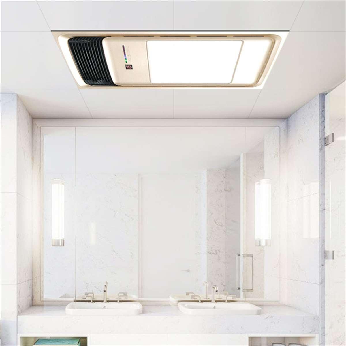 220V Bathroom Electric Heater Exhaust Fan Warmer Ceiling Lights Heating Winter Shower Livingroom Light Wall Mounted