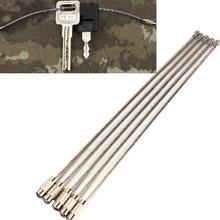 5 sztuk EDC brelok tag liny ze stali nierdzewnej pierścień z drutu klucz brelok kabel pętli odkryty śruba blokująca gadżet koło obóz bagaż tanie tanio CN (pochodzenie) Metal Torby Poszycia Koronki 100006110 100006110 100006110