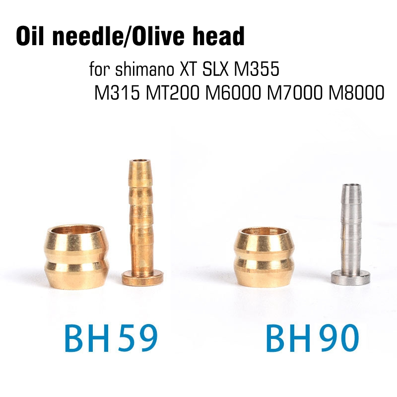 10 set <font><b>SHIMANO</b></font> DEORE BH90 BH59 <font><b>Brake</b></font> Olivary head Mountain Bike XT <font><b>SLX</b></font> M355 M315 MT200 M6000 <font><b>M7000</b></font> M8000 Oil needle image