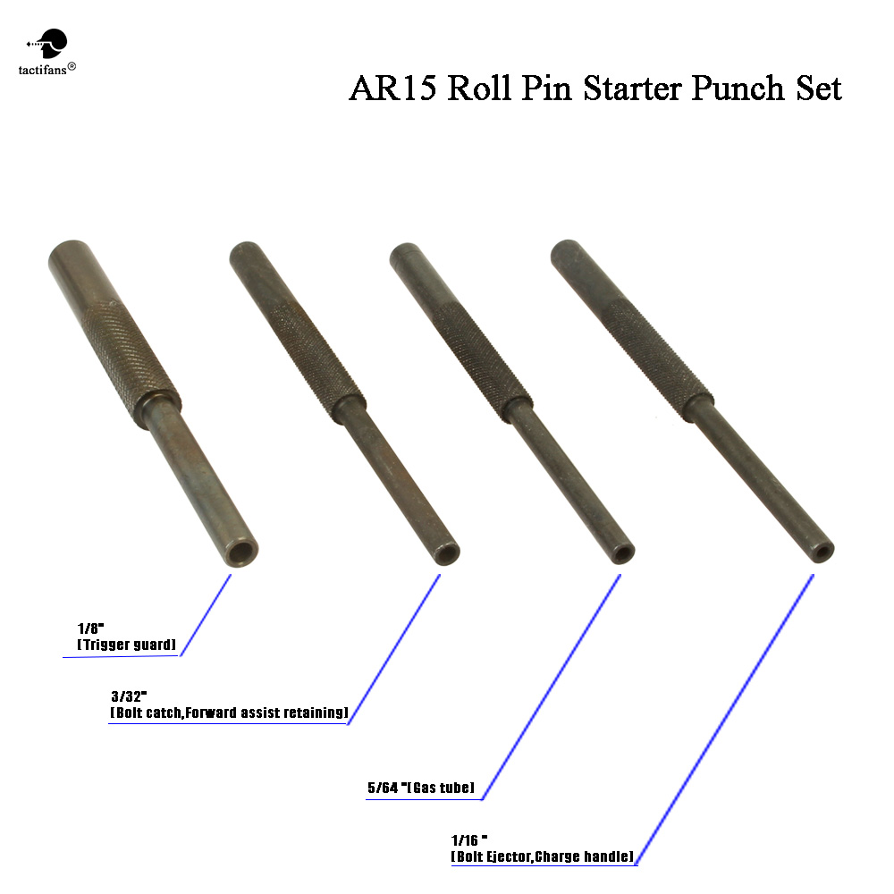 Ultimate Gunsmith Roll Pin Starters Arms Punch Set AR15 M4 M16 Rifle 4pcs  Armorer Steel Army Hunting Paintball Accessories