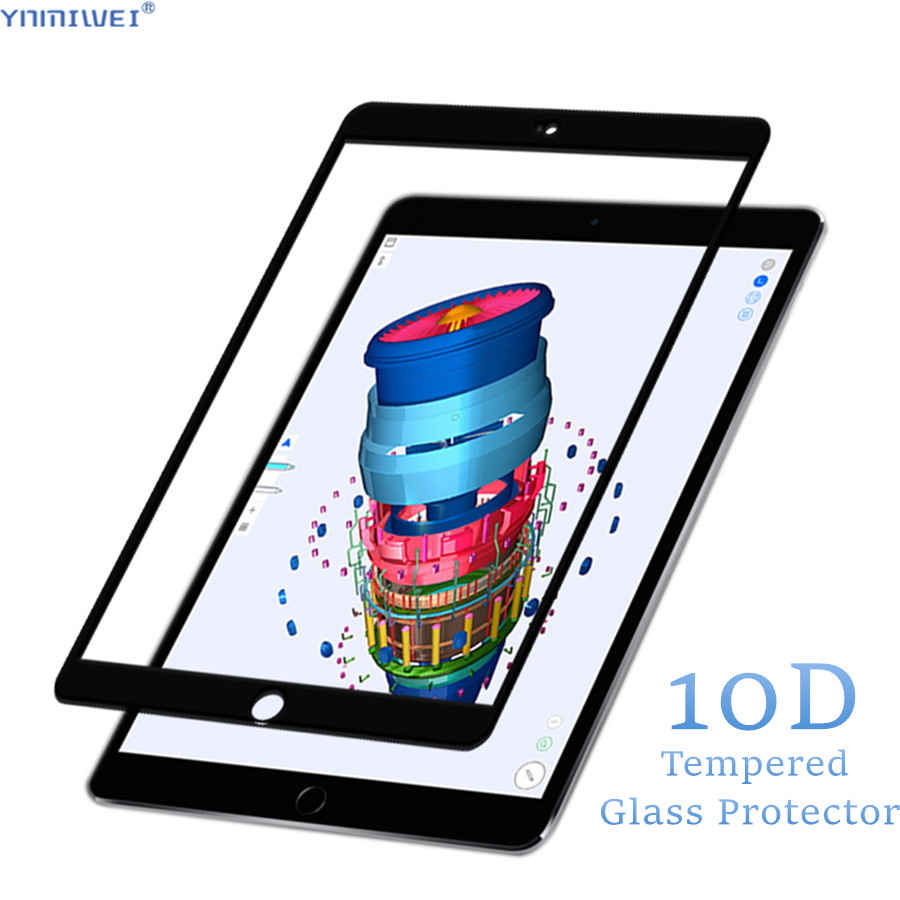 10D Full Coverage For Apple IPad 9.7 Inch 2018 2017 Pro 11 Air 1 2 3 Glass Films For IPad Air 3 Glass Protector For IPad Air 1 2