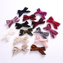 1 шт. новые бархатные заколки для волос с бантами модная Шпилька-бант женские аксессуары для волос милые велюровые заколки для волос с бантиком