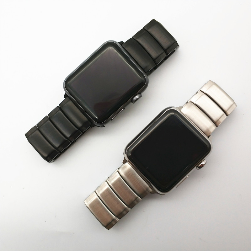 AKGLEADER Newest Solid Metal Steel Band Strap For Apple Watch Series 4 3 2 1 IWatch High Quality Bands