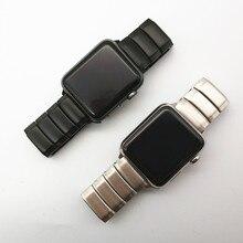 AKGLEADER najnowszy pasek ze stali nierdzewnej z litego metalu do zegarka Apple Series 4 3 2 1 iWatch wysokiej jakości opaski
