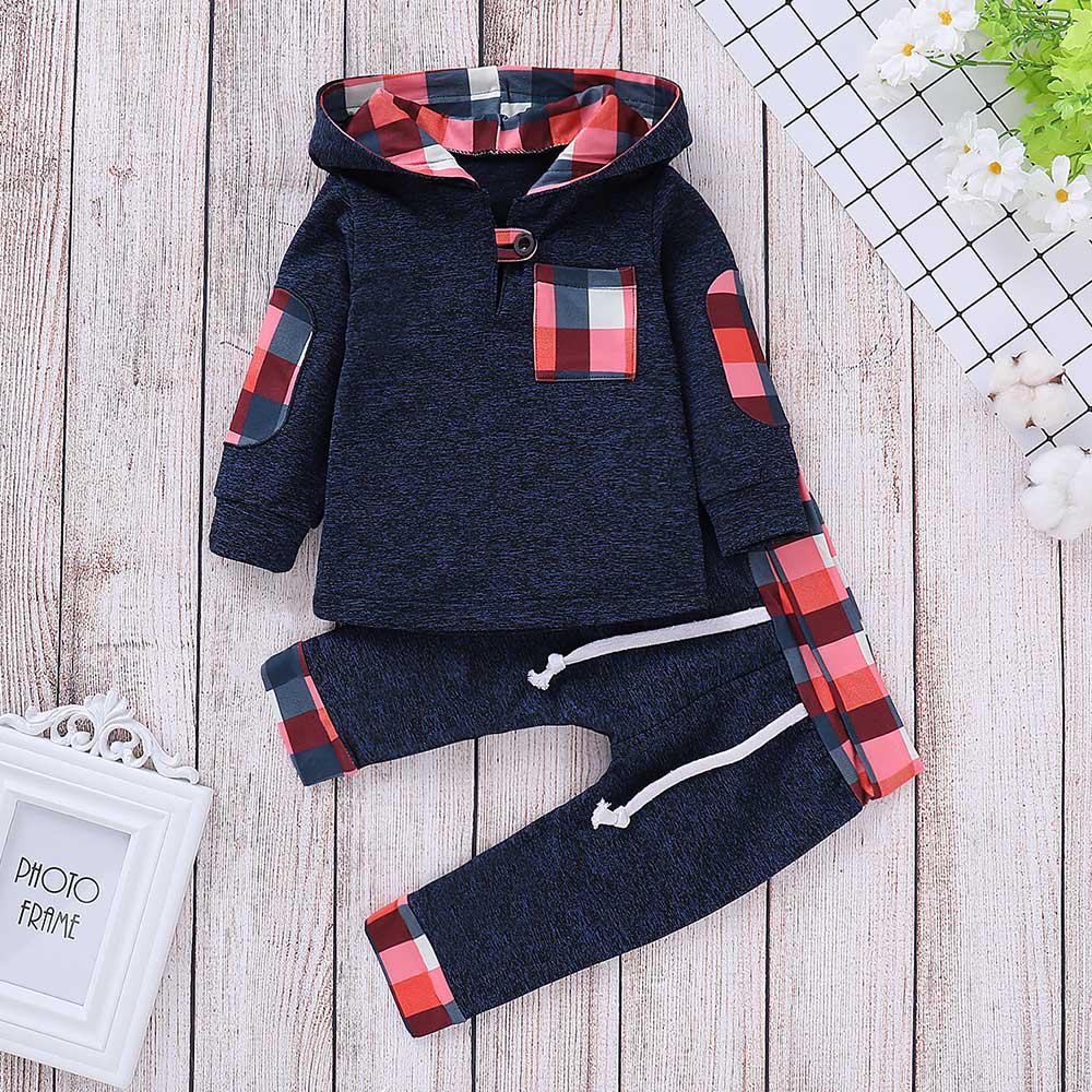 Baby boy clothes 2019 newborn suit children baby girls clothing fashion Long Sleeve Hoodie cotton