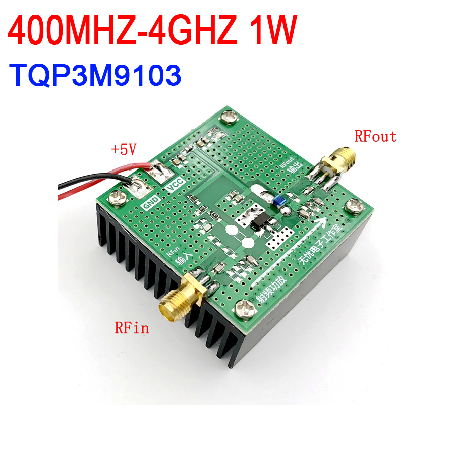 TQP3M9103 400 MHZ 4 GHZ 1W hing linearity power amplifier development board with heat sink FOR