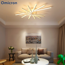 Omicron Modern Led Chandelier Rotate Heads Creative White Lamp Home Decor Lighting For Living Room Bedroom Kitchen