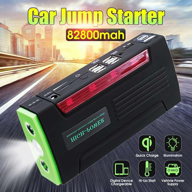 Lecteur Automatique Multi-Fonction Portable 12 V Démarreur Voiture De saut 600 apic 82800 mAh amplificateur de batterie batterie Externe pour chargeur de voiture 4 port usb - 2