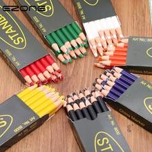 Купить с кэшбэком EZONE 3PCS Pencil Colored Cute Candy Color Peel off Marker Grease Crayon Paper Roll Wax Pencil For Fabric School Office Supply