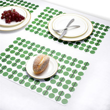 4PCS Cartoon Mats Fork Spoon Printed Dinner Placemats Western Pad Insulation Dinning Table Mat Plate Pot Kitchen table use