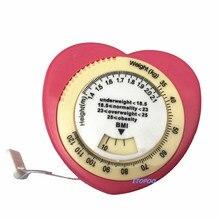 Горячая Распродажа Индекс Массы Тела BMI Выдвижная рулетка и калькулятор для диеты потеря веса измерительные инструменты