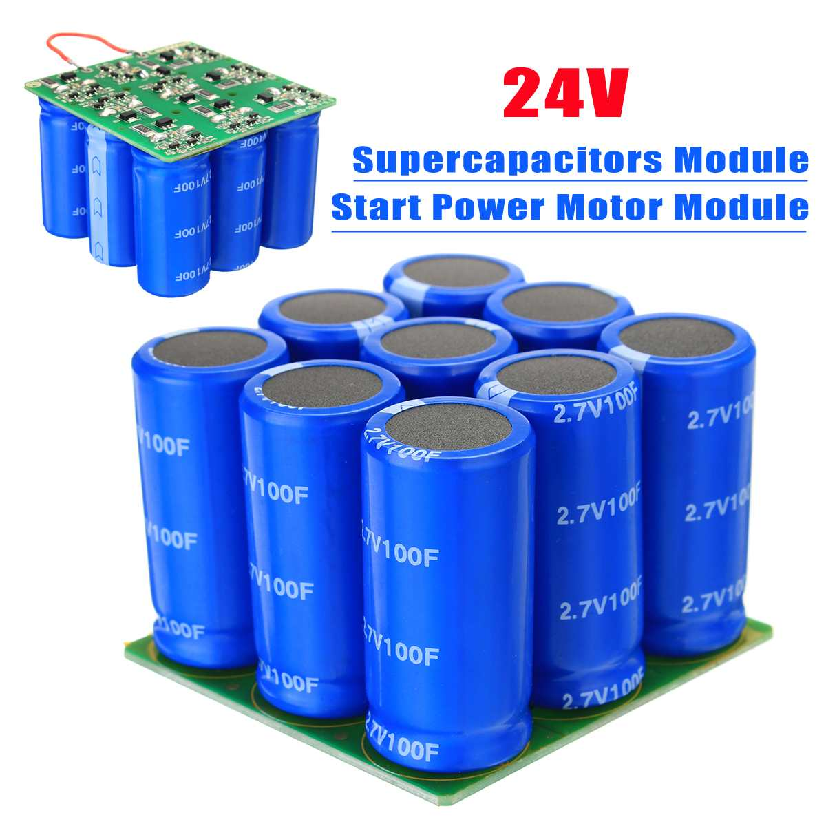 24V Supercapacitors Module Start Power Motor Start Capacitor Module24V Supercapacitors Module Start Power Motor Start Capacitor Module