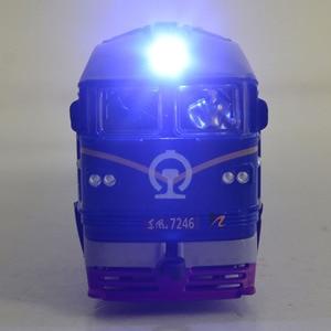 Image 3 - 高シミュレーション 1: 87 合金ディーゼル機関車内部燃焼機関車モデルおもちゃの音響光学の列車のおもちゃ子供