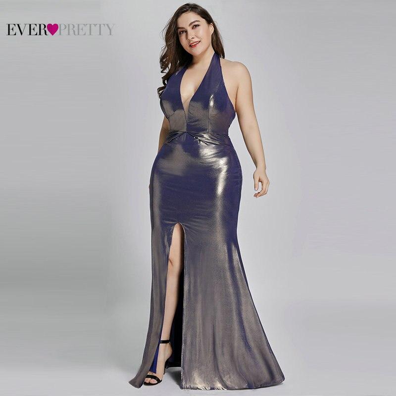 Вечерние платья больших размеров, длинные, красивые, EP07206, блестящее платье русалки De Soiree 2019, торжественное, свадебное, блестящее платье