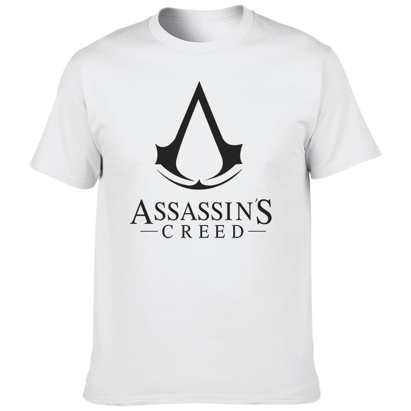 Summer Hot Cool Game Assasins Creed Unity Printed Tops Tees Cotton Men T-shirt Cosplay T Shirt Casual O-Neck Cloth image