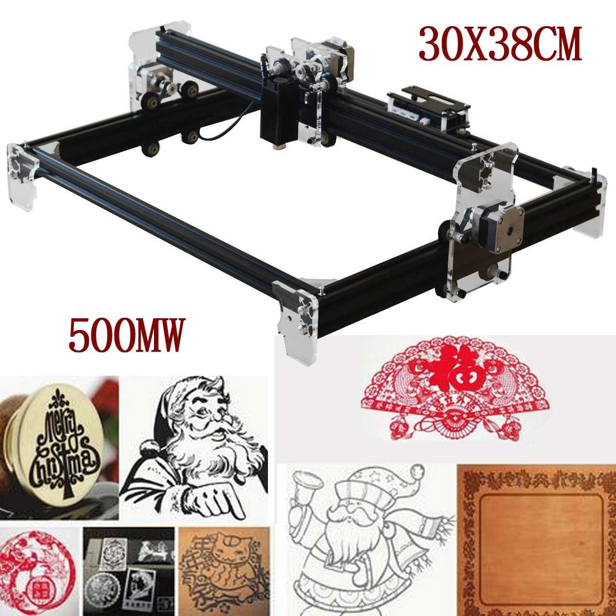 500 MW/2500 MW/5500 MW A3 30X38 CM DIY Mini Gravador Do Laser CNC DIY Logo marca Da Impressora Cortador de Madeira Router Carving Máquina de Gravura