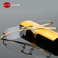 UVLAIK бифокальные очки для чтения Для мужчин Для женщин без оправы сплава каркас диоптрий пресбиопические очки + 1,0 1,5 2,0 2,5 3,0 3,5