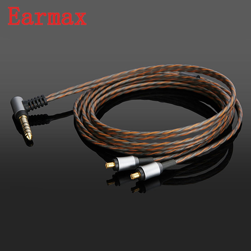 Earmax A2DC To 4.4mm Earphone Upgraded Cable OCC Silver Plating HiFi Audio Cable For ATH LS400/LS300 For ATH CKR100/CKR100is