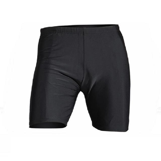Pantalones cortos de playa ajustados de ángulo plano negro puro de secado rápido al aire libre para hombre