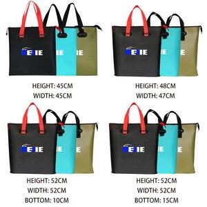 Image 2 - Seau pliable en EVA, 4 tailles, sacs portables de matériel de pêche en plein air avec réservoir deau pour la pêche