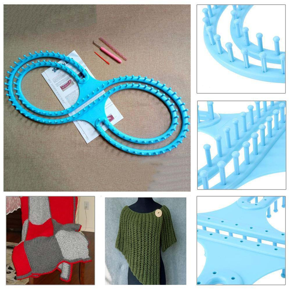 DIY Weaving Tool Loon Knitting Board With Instruction& 3 Projects Loom Craft Kit Tool Hook Needle For Blancket Scarf Pegs Loom 3