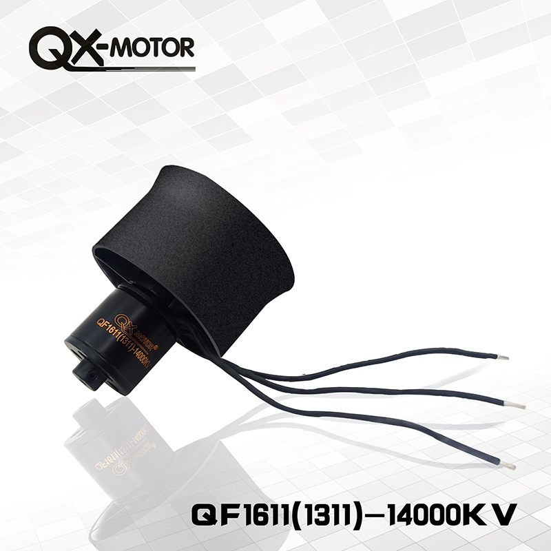 QX-Motor 30mm 6 Blades Electronic Ducted Fan EDF QF1611 14000KV Brushless Motor For RC Airplanes DIY Drone Parts image