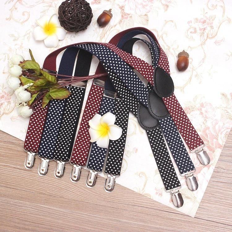 Elastic Boys Ring Bear Suspender Children Girl Wedding Wear Suspenders Baby Kids Polka Dots Braces Belt