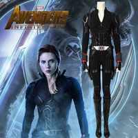 Avengers Endgame 4 Black Widow Kostüm Natalia Alianovna Romanova Natasha Romanoff Cosplay Erwachsene Volle Set Stiefel Halloween Frauen
