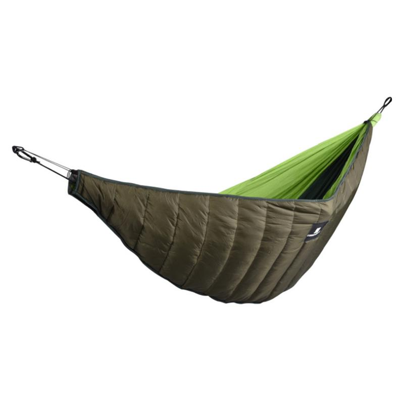 2018 New Portable Hammock Outdoor Camping Survival Garden Hunting Leisure Hamac Travel 1 Person Hamak Army Green Color