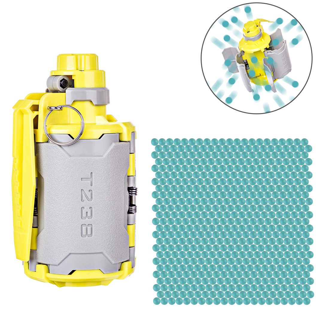 Suprer Deals T238 V2 Large Capacity Toy Set With Time-Delayed Function For Nerf Gel Ball BBs Airsoft Wargame - Grey + YellowSuprer Deals T238 V2 Large Capacity Toy Set With Time-Delayed Function For Nerf Gel Ball BBs Airsoft Wargame - Grey + Yellow